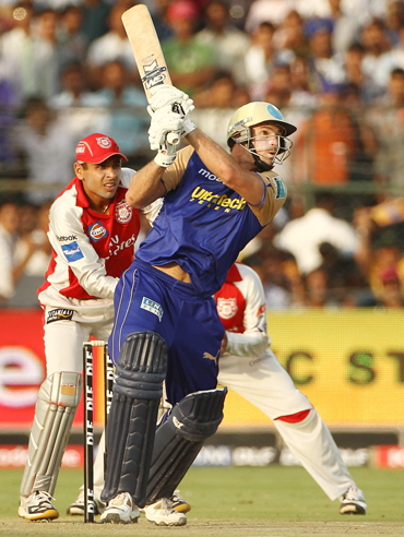 Michael Lumb of the Rajasthan Royals