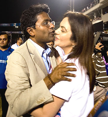 Lalit Modi greets Nita Ambani