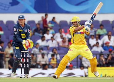 Murali Vijay hits a boundary