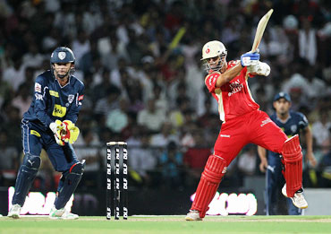 Rahul Dravid plays a square cut