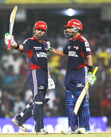 Gautam Gambhir and Mithun Manhas