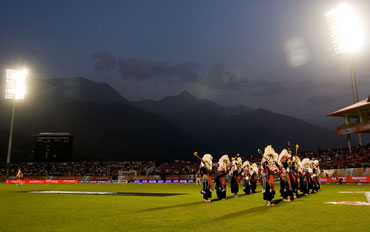 A cultural dance is performed ahead of the match
