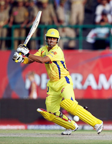 Suresh Raina hits one out of the park