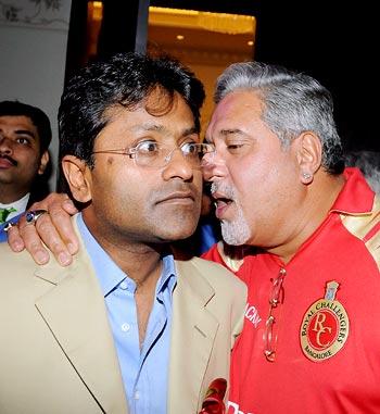 Lalit Modi with Vijay Mallya