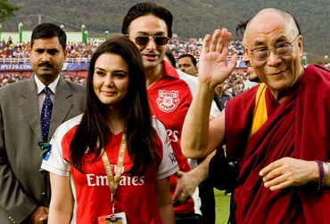 Dalai Lama with Priety Zinta