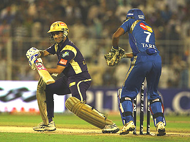 Sourav Ganguly plays a cut short