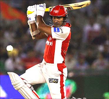 Kumar Sangakkara of the Kings XI Punjab