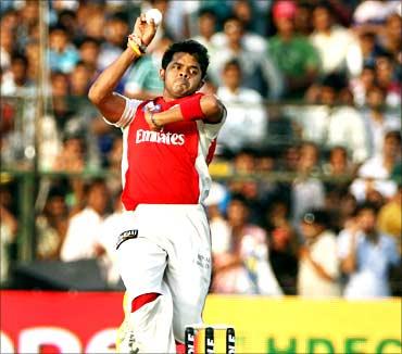 S Sreesanth Kings XI Punjab