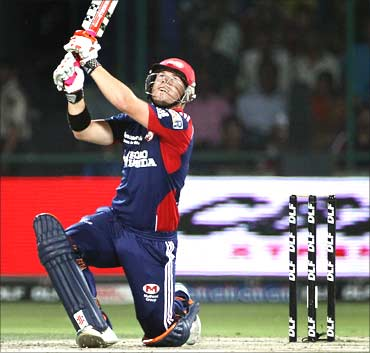 David Warner of the Delhi Daredevils