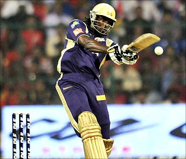 Chris Gayle of Kolkata Knight Riders