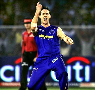 Shaun Tait of Rajasthan Royals
