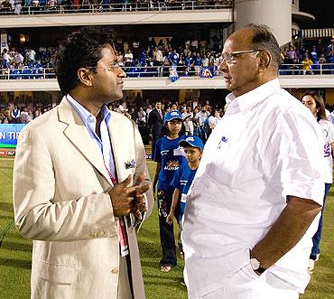 Lalit Modi and Sharad Pawar