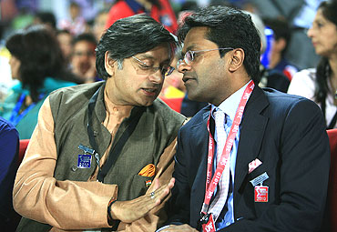 Sashi Tharoor and Lalit Modi
