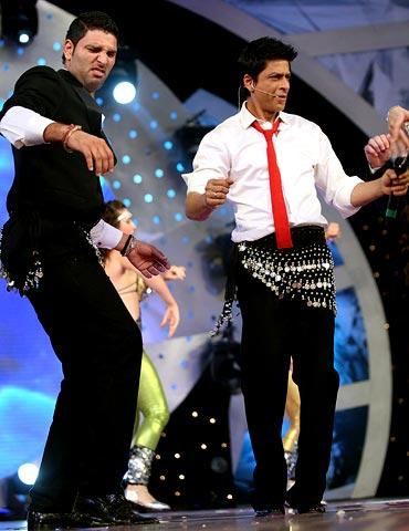 Yuvraj Singh (left) with Shah Rukh Khan