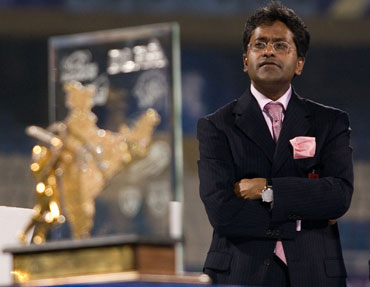 Lalit Modi at the closing ceremony of IPL III