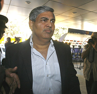 BCCI president Shashank Manohar arrives for the IPL council meeting in Mumbai on Monday