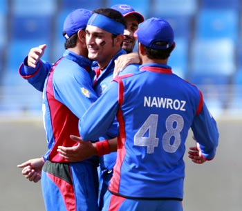 Afghanistan's players celebrate