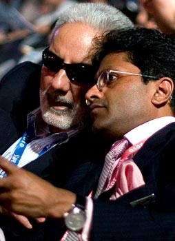 Inderjit Singh Bindra with Lalit Modi