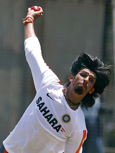 Ishant Sharma bowls in the nets
