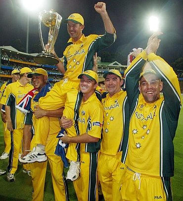 Australian Team after winning a World Cup