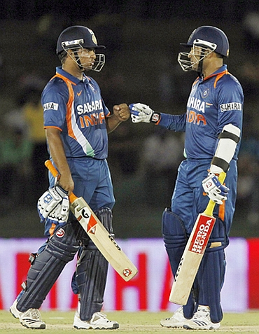 Virender Sehwag and Suresh Raina