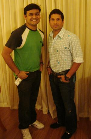 Girish MC and Sachin Tendulkar