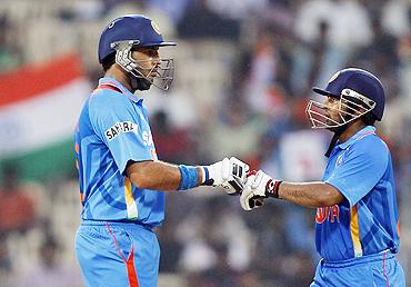 Yuvraj Singh and Parthiv Patel