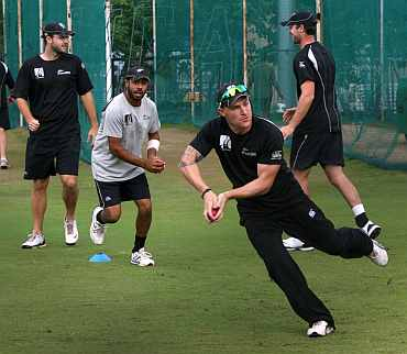 New Zealand team during a training session