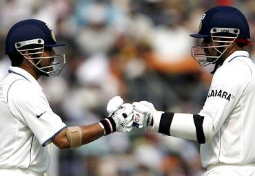 Sachin Tendulkar (left) and Virender Sehwag