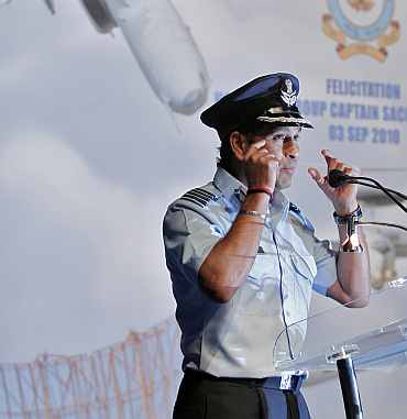 Tendulkar in IAF colours