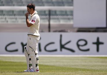 Ricky Ponting is lost in thought as wickets tumble on the opening day of the fourth Ashes Test
