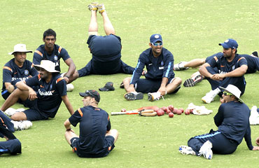 Team India during a practice session