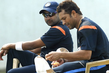 Sachin Tendulkar and Amit Mishra