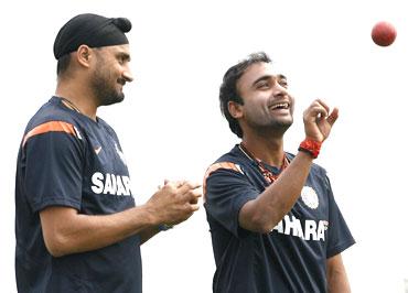 Harbhajan Singh and Amit Mishra