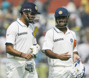 Laxman and Dhoni