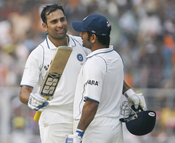 VVS Laxman and MS Dhoni
