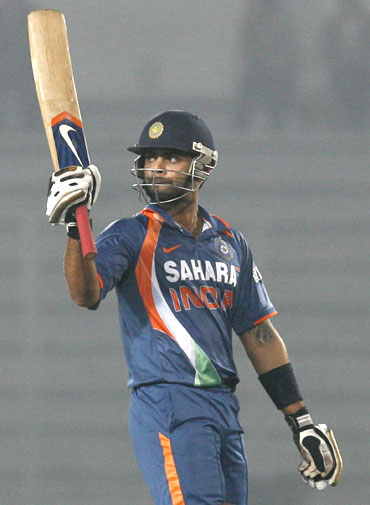 Virat Kohli hits a half century