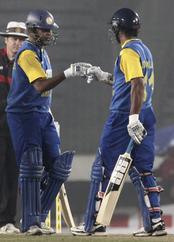 Kumar Sangakkara and Thilan Samaraweera