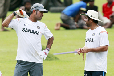 Mahindra Singh Dhoni and Sachin Tendulkar