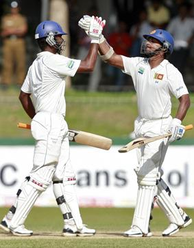Paranavitana and Sangakara celebrate their hundreds