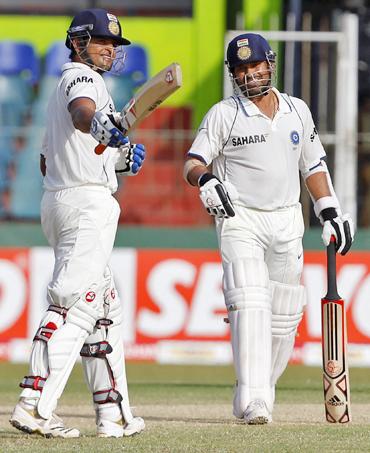 Sachin Tendulkar and Suresh Raina