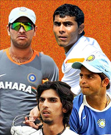 Yuvraj Singh, Suresh Raina, Ravindra Jadeja and Ishant Sharma