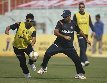 Suresh Raina and Dhoni