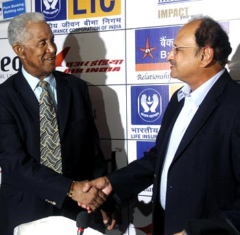 Gary Sobers (left) with Ajit Wadekar