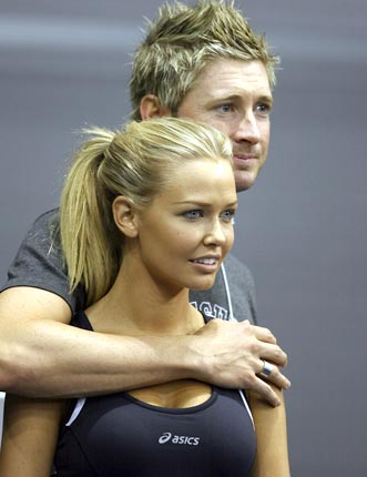 michael clarke with girlfriend lara bingle