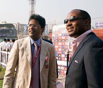 Lalit Modi and Brian Lara