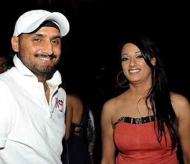 Harbhajan Singh with actress Vrinda Parekh