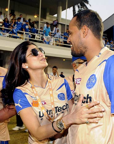 Shilpa Shetty with Yusuf Pathan