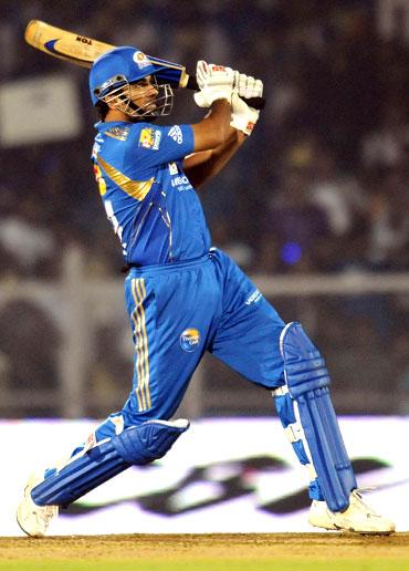 Zaheer Khan hits a six