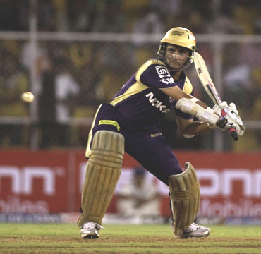 Sourav Ganguly plays a shot